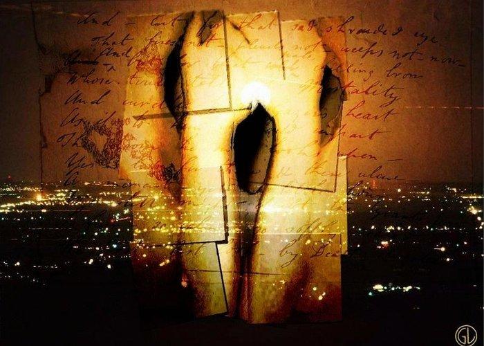 Urban Greeting Card featuring the digital art Identity Loss by Gun Legler