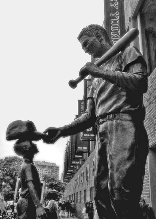 Ted Williams And The Boy Greeting Card featuring the photograph Idol by Joann Vitali