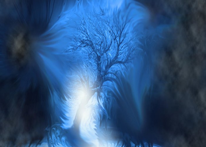 Surreal Greeting Card featuring the digital art If I Fall by Cathy Beharriell