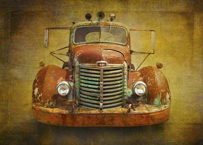 Truck Greeting Card featuring the photograph Ih Truck by Peggy Kahan