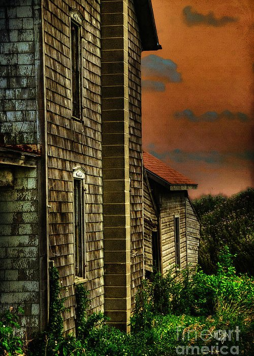 Dilapidated Greeting Card featuring the photograph I'll Take Everything by Lois Bryan