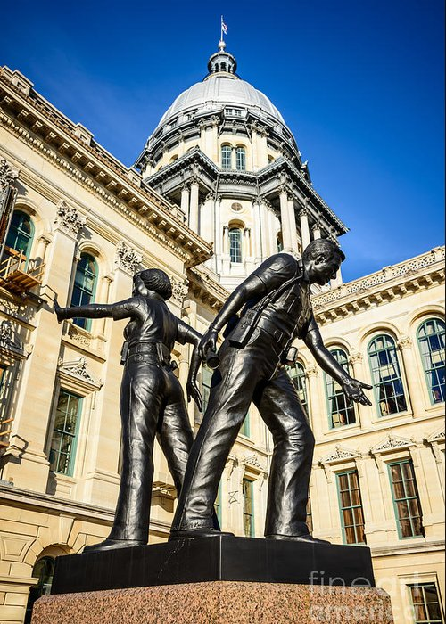 Illinois Greeting Card featuring the photograph Illinois Police Officers Memorial In Springfield by Paul Velgos