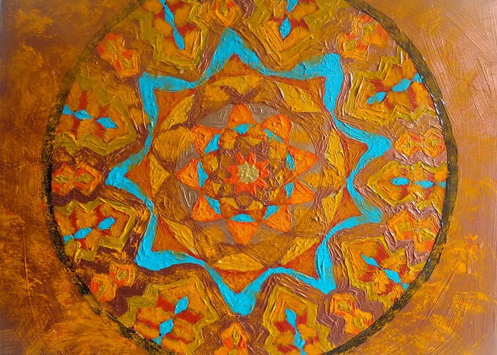 Beautiful Greeting Card featuring the painting Illustrious Hue Mandala by Amy Hassan