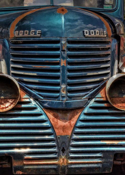 Dodge Pick Up Truck Greeting Card featuring the photograph I'm So Blue by Ken Smith