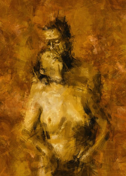 Nude Greeting Card featuring the photograph I'm Yours Forever by Kurt Van Wagner