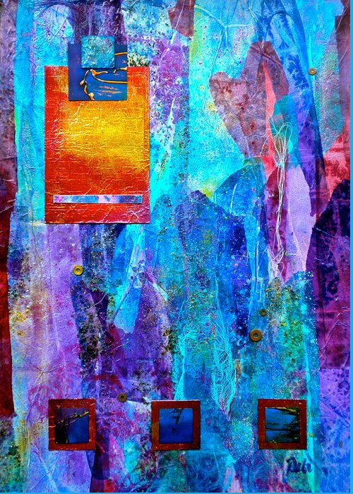 Immersion Greeting Card featuring the painting Immersion by Debi Starr
