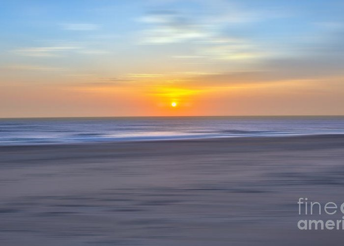 Outer Banks Greeting Card featuring the photograph Imminent Light - A Tranquil Moments Landscape by Dan Carmichael