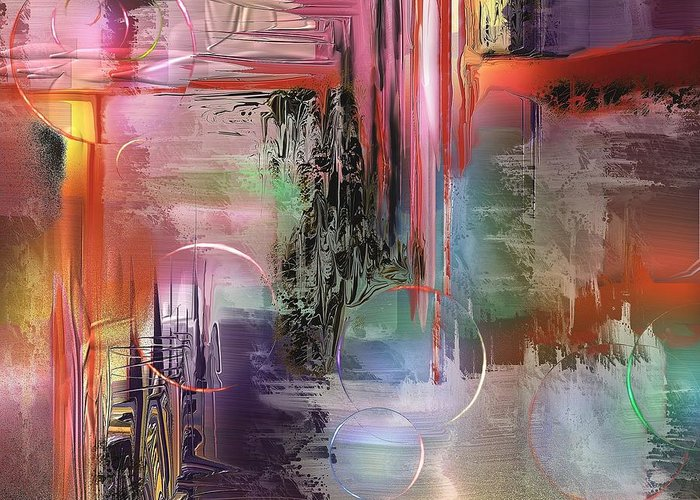 Abstract Greeting Card featuring the painting Imperissable by Francoise Dugourd-Caput
