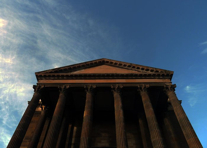 Scottish Church Greeting Card featuring the photograph Imposing And Enigmatic Structure by Baato