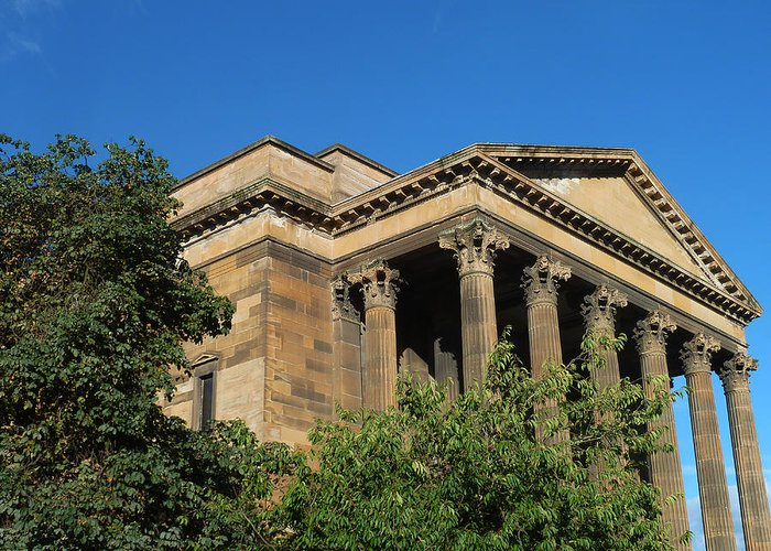 Wellington Church - Glasgow/scotland Greeting Card featuring the photograph imposing and enigmatic structure II by Baato