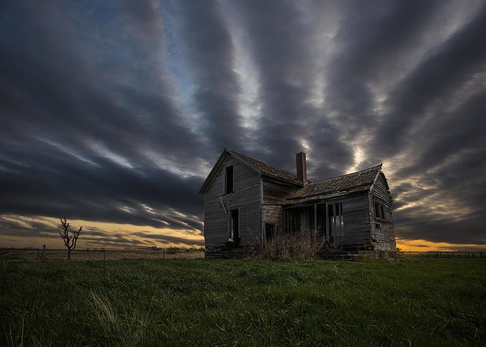 Sunset Greeting Card featuring the photograph In A Past Life by Aaron J Groen