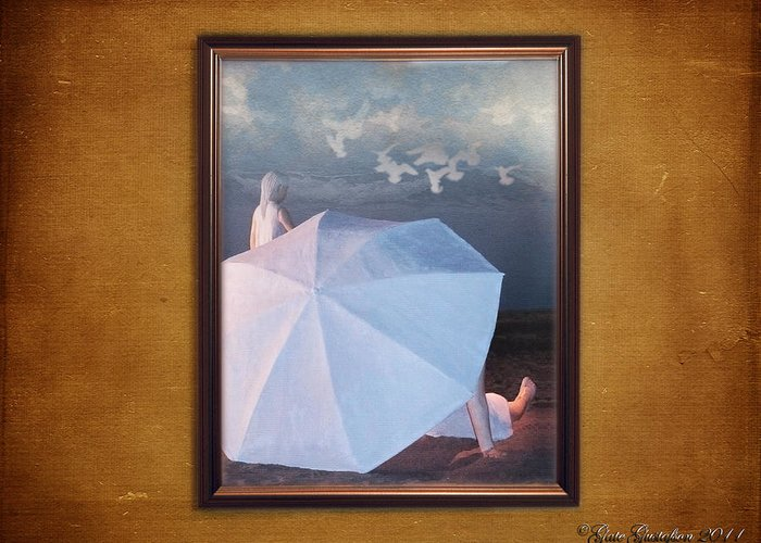Wall Greeting Card featuring the photograph In A Scene In A Dream That's So Far Away by Gate Gustafson