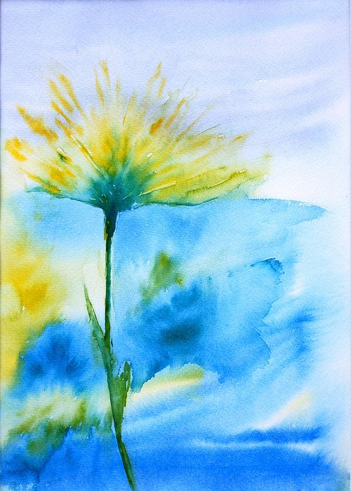 Flower Greeting Card featuring the painting In All Your Glory by Jodi Forster