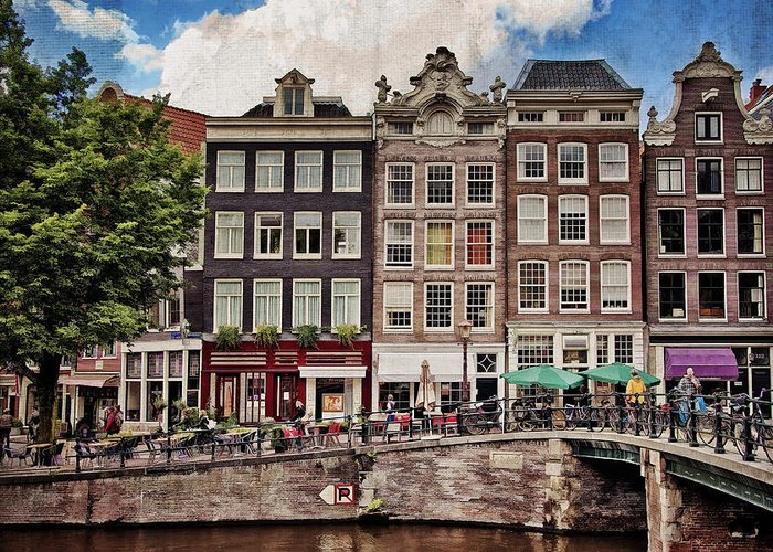 Amsterdam Greeting Card featuring the photograph In Another Time And Place by Joan Carroll