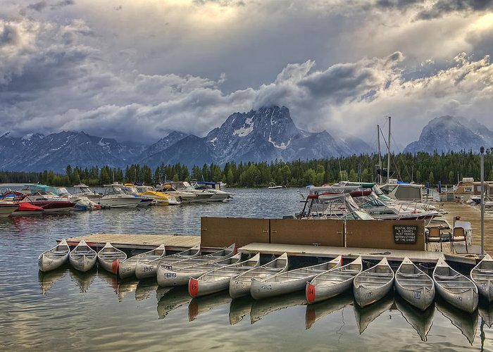 Grand Teton National Park Greeting Card featuring the photograph In For The Storm by Summer Kozisek