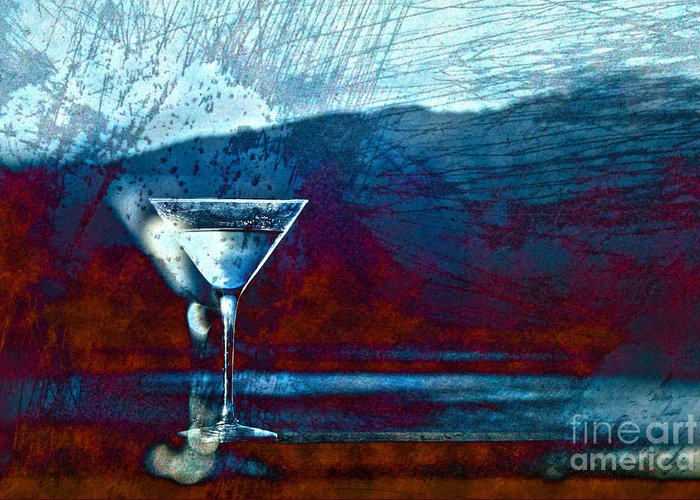 Martini Greeting Card featuring the photograph In Good Spirits by Cynthia Lagoudakis