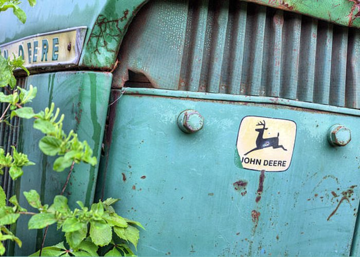 In John Deere Green Greeting Card featuring the photograph In John Deere Greene by JC Findley