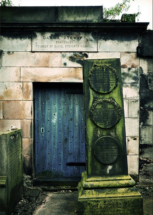 Headstone Greeting Card featuring the photograph In Old Calton Cemetery by RicardMN Photography