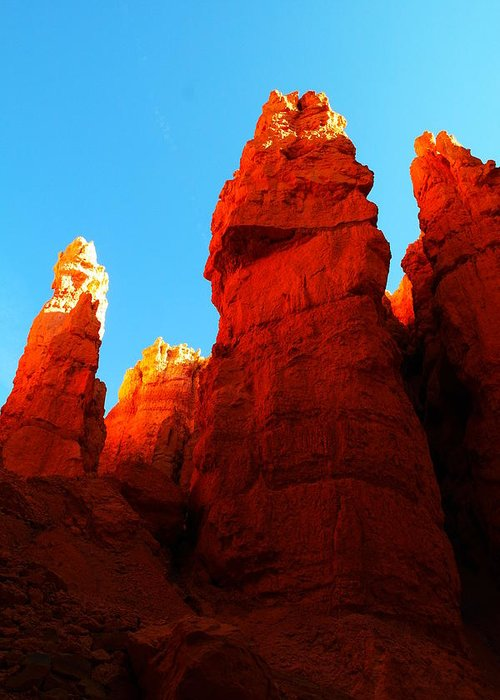 Rocks Greeting Card featuring the photograph In Shadows Where The Gods Wander by Jeff Swan