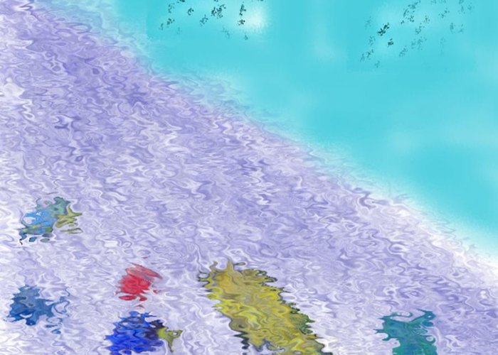Creation Greeting Card featuring the digital art In the beginning 3 by Dr Loifer Vladimir