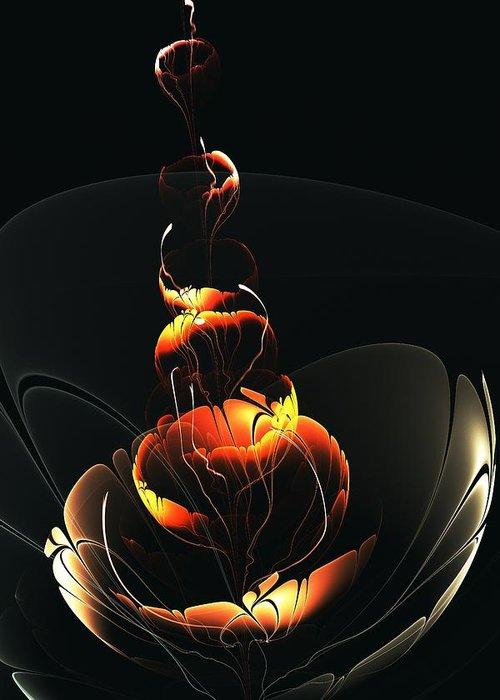 Malakhova Greeting Card featuring the digital art In The Dark by Anastasiya Malakhova