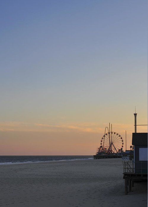 Funtown Pier Greeting Card featuring the photograph In The Distance by Terry DeLuco