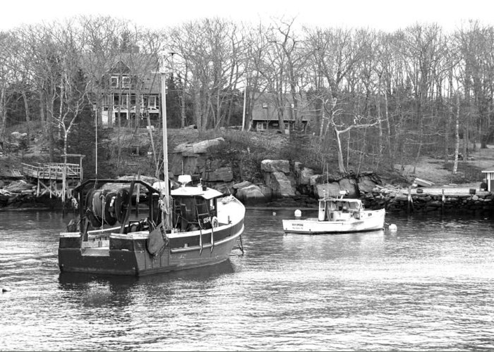 Boats Greeting Card featuring the photograph In The Harbor by Becca Brann
