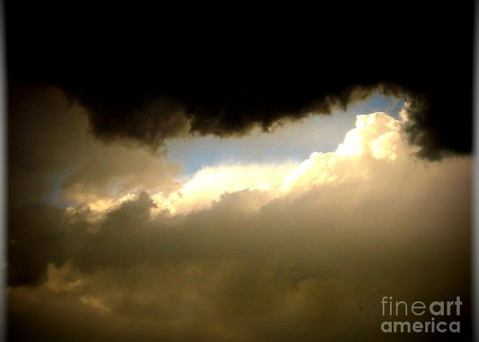 Black Greeting Card featuring the photograph In The Midst Of The Storm by Tia Maria - Fine Artist