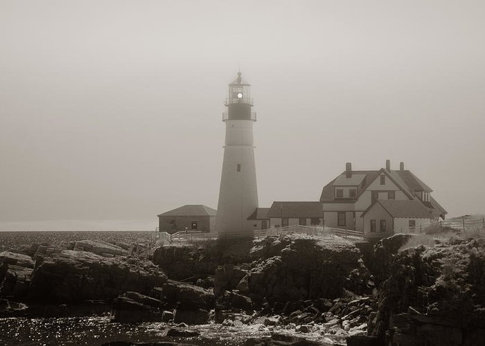 Atlantic Ocean Greeting Card featuring the photograph In The Mist by Joann Vitali