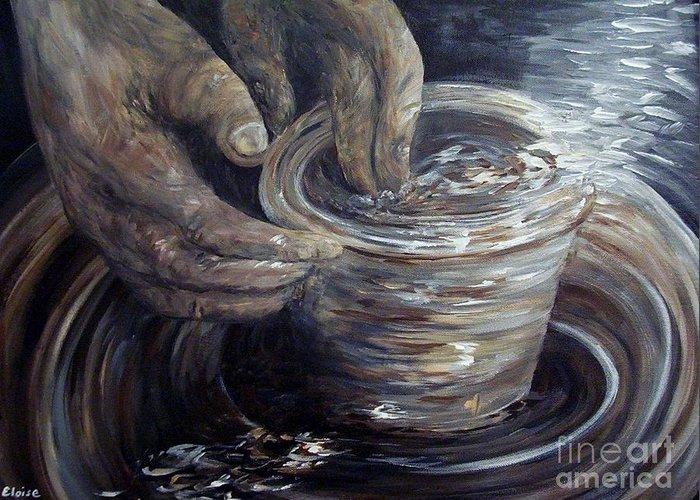 Wheel Thrown Paintings Greeting Cards