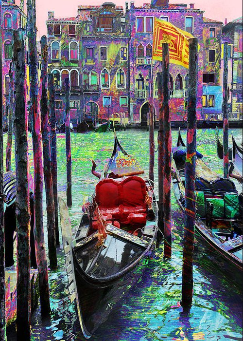 Gondola Greeting Card featuring the photograph In The Stable by Steven Boone