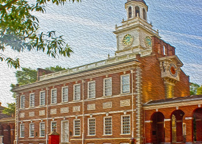 Pennsylvania Greeting Card featuring the photograph Independence Hall Philadelphia by Tom Gari Gallery-Three-Photography