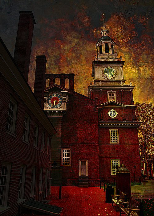 Philadelphia Greeting Card featuring the photograph Independence Hall Philadelphia Let Freedom Ring by Jeff Burgess