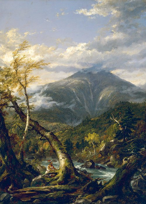 Thomas Cole Greeting Card featuring the painting Indian Pass by Thomas Cole