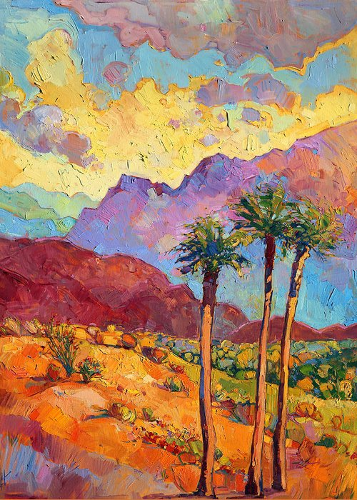 Indian Wells Greeting Card featuring the painting Indian Wells by Erin Hanson