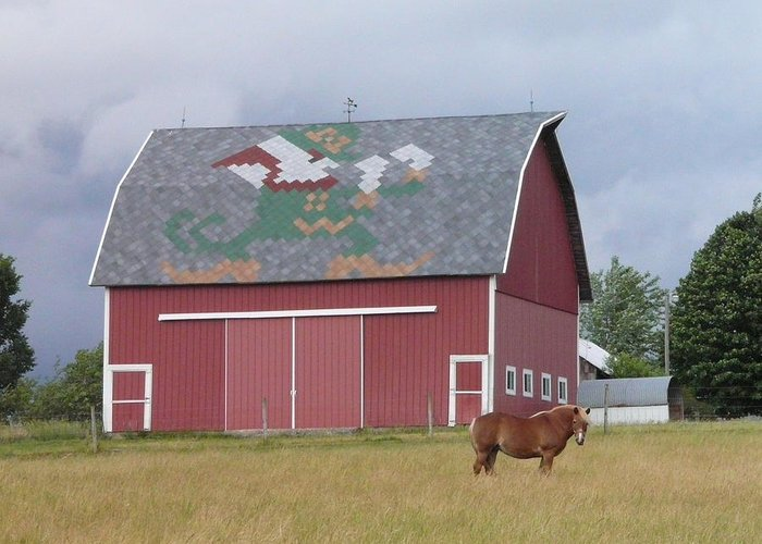 Indiana Greeting Card featuring the photograph Indiana Barn by Valerie Jean Schafer