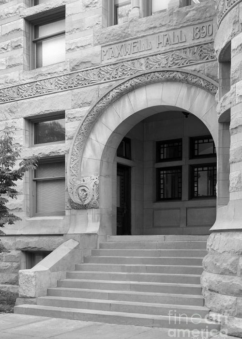 American Greeting Card featuring the photograph Indiana University Maxwell Hall Entrance by University Icons