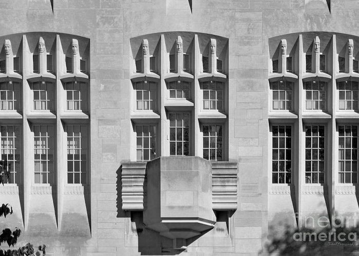 American Greeting Card featuring the photograph Indiana University Myers Hall by University Icons