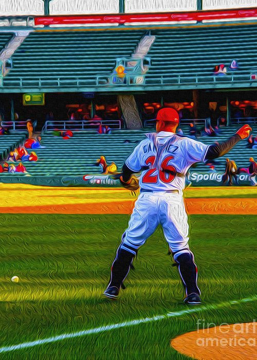 Victory Field Greeting Card featuring the photograph Indianapolis Indians Catcher by David Haskett