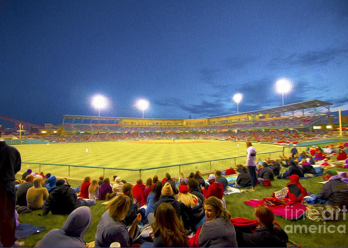 Victory Field Greeting Card featuring the photograph Indianapolis Indians by David Haskett