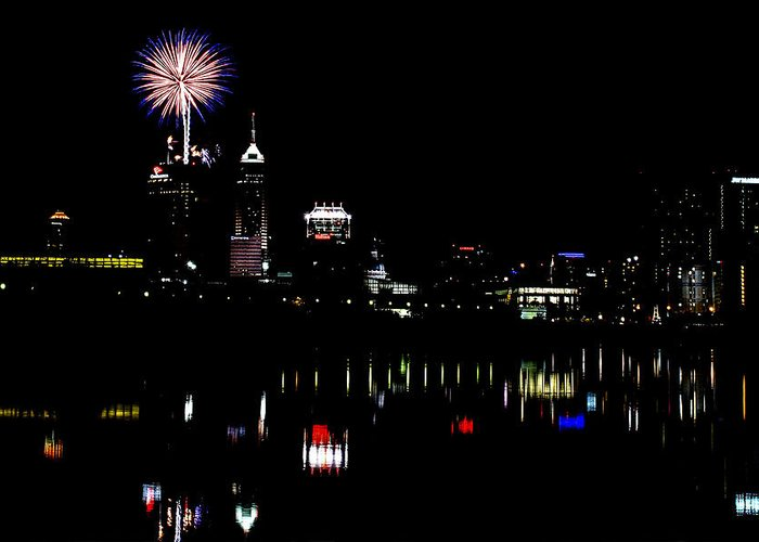 Indiana Greeting Card featuring the photograph Indy Fireworks by Joji Ishikawa