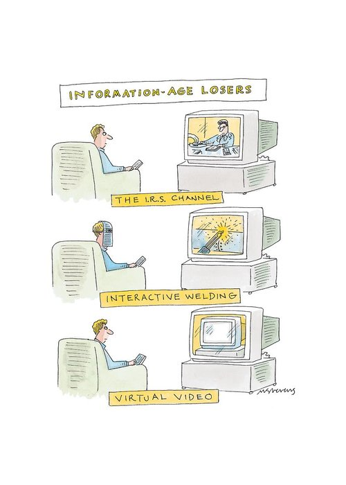 Information Age Drawings Greeting Cards