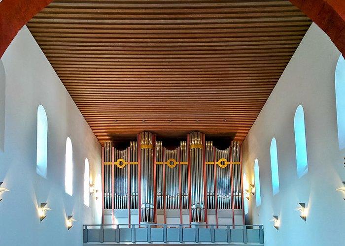 Ingelheim Greeting Card featuring the photograph Ingelheim Organ by Jenny Setchell