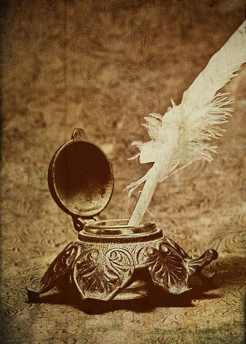 Antique Greeting Card featuring the photograph Inkwell II by Tom Mc Nemar