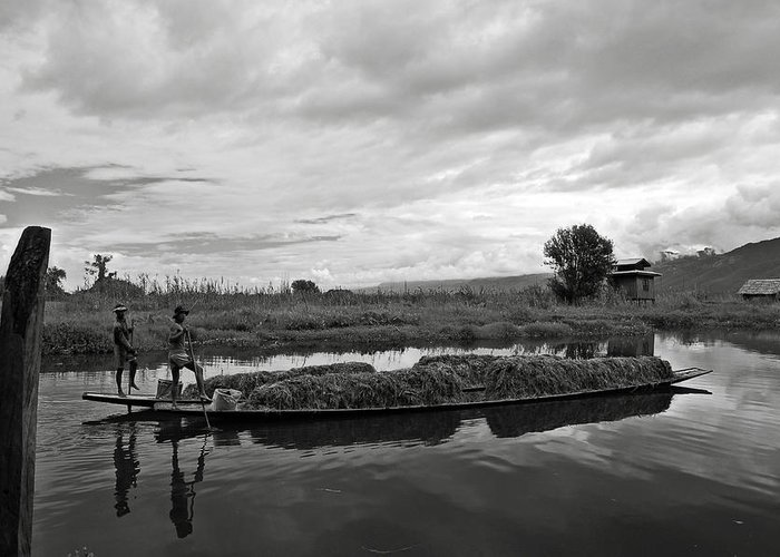 Ricardmn Greeting Card featuring the photograph Inle Lake In Burma by RicardMN Photography