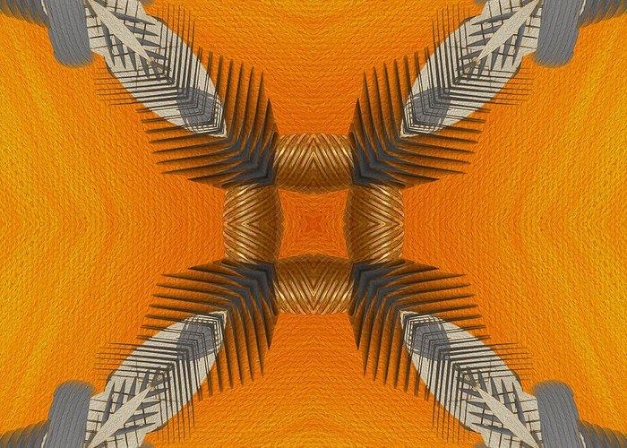 Digital Art Greeting Card featuring the digital art Inner Chi by Deborah Benoit