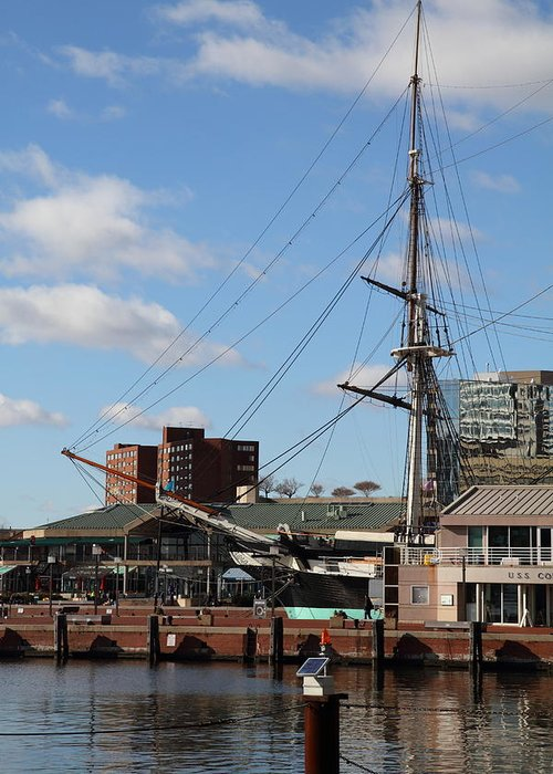 Inner Greeting Card featuring the photograph Inner Harbor At Baltimore Md - 12128 by DC Photographer