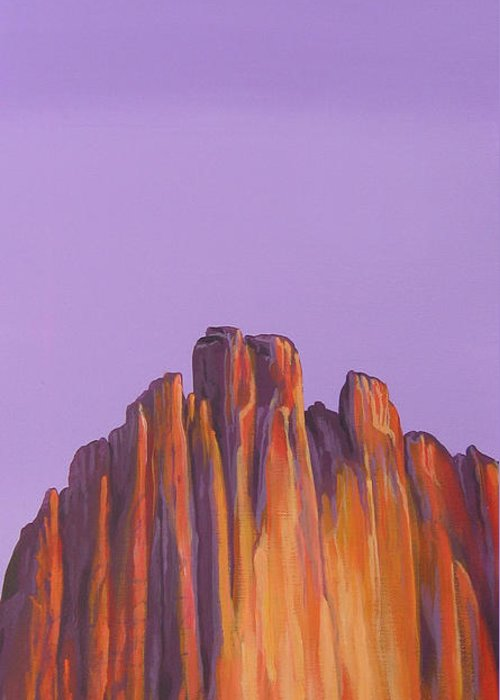 Landscape Greeting Card featuring the painting Inscription Rock by Hunter Jay