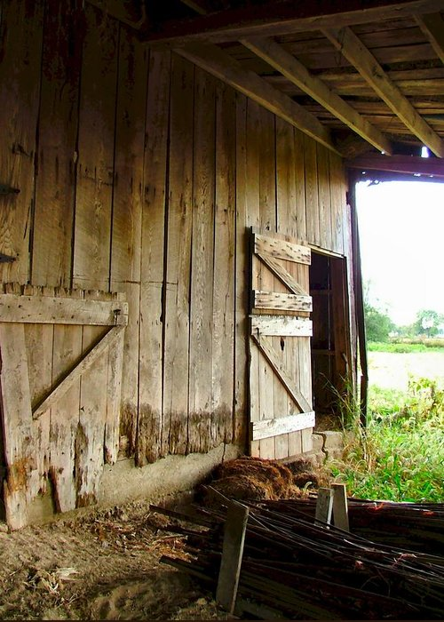 Indiana Barns Greeting Card featuring the photograph Inside An Indiana Barn by Julie Dant