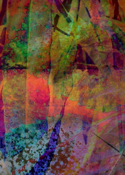 Abstract Greeting Card featuring the photograph Inside Autumn by Shirley Sirois